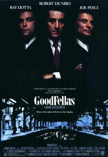 MG Poster Póster de la película Goodfellas (28 x 44 cm), Estilo A (Robert De Niro) (Ray Liotta) (Joe Pesci) (Paul Sorvino) (Lorraine Bracco) (Frank Sivero)