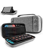 Hard Storage Case Compatible with Nintendo Switch, Original Protective Hardshell Travel Handle Case Carrying Bag Cover fit Nintendo Switch Console and Accessories, 24 Game Card Slots