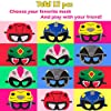 Haooryx 12Pcs Power Hero Theme Party Masks, Dress Up Costumes Party Decor Supplies US Rangers Ninja Steel Halloween Pretend Play Accessories Photo Booth Prop for Baby Shower Kids Birthday Favors #4