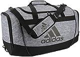 adidas Unisex Defender II Medium Duffel Bag, Jersey Onix/Black/Light Onix, ONE SIZE