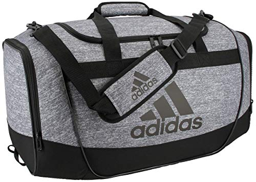adidas Unisex Defender II Medium Duffel Bag, Jersey Onix/Black/Light Onix, ONE SIZE