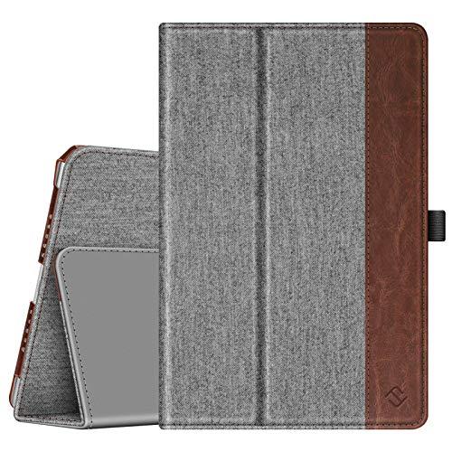 FINTIE Folio Funda para iPad 9.7' 2018/2017, iPad Air 2, iPad Air - [Protección de Esquina] Carcasa de Primera con Función de Soporte y Auto-Reposo/Activación, Tela Gris Marengo