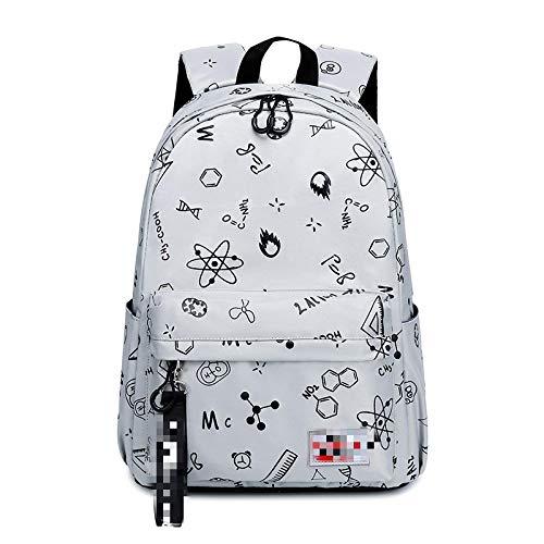 MLOPPTE Moda Niños Mochilas escolares Mochilas Diseño de marca Adolescentes Mejores estudiantes Viajes Mochila impermeable gris