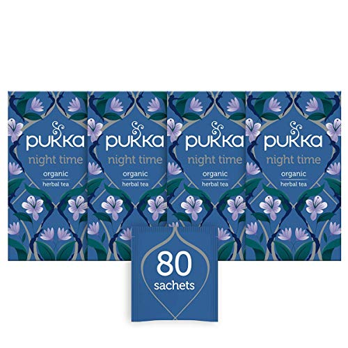 Pukka Night Time Organic Herbal Tea, 20 Teabags, Pack of 4