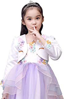 4679a9fa3b Sinmoocy Girls Long Sleeve Lace Flower Bolero Shrug Jacket Short Cardigan  Dress Cover up 1-