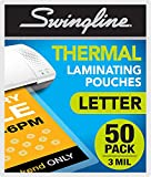 Swingline Laminating Sheets, Thermal Laminating Pouches Letter Size, 3mil, 50 Pack (3202017)