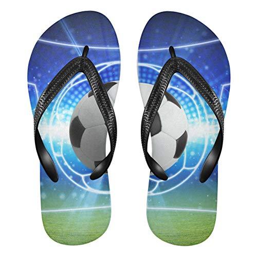 Linomo Galaxy Soccer Sport Ball Slim Flip Flop Sandalias de playa de verano para mujer, color, talla 42/46 EU