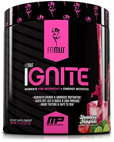 FitMiss Ignite, Women's Pre-Workout Supplement & Energy Booster for Fat Loss, Supports Energy & Workout Motivation, Strawberry Margarita, 30 Servings