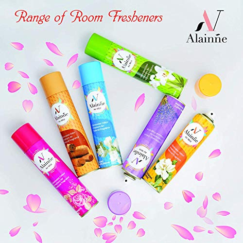 Alainne Dreamy Rajnigandha Air Freshener & Room Freshener Spray Ideal for Bedroom/Living Room/Workplaces & More Refresh (278ml, Pack of 2)