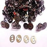 Trimming Shop 18mm Magnético Cierre a Presión para Bolsos, Bolsas, y Artesanías - con Masculino Femenino Partes - Broche 2 Metal Apoyo Arandelas - Costura Ropa Reparación… - Metálico, Set of 10
