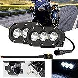 Kairiyard 4inch LED Motorcycle Auxiliary Driving Spot Lights 60W 6000K Off Road Light Pod 6000lm LED Fog Work Light for Motorcycle Truck Dirt Bike SUV UTV ATV Tractor, 2Pcs