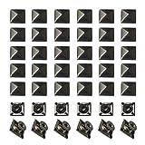 Square Pyramid Studs 8mmx100Pcs Spike Square Studs Rivets Metal Claw Nailhead Rivet Studs Spike...