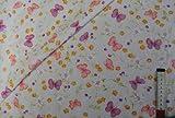 alles-meine.de GmbH 1 m * 1,4 m Stoff Schmetterlinge bunt