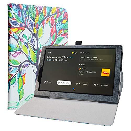 Labanema Funda para Lenovo Yoga Smart Tab, Slim Fit Carcasa de Cuero Sintético con Función de Soporte Folio Case Cover para 10.1' Lenovo Yoga Smart Tab YT-X705F Tablet - Love Tree