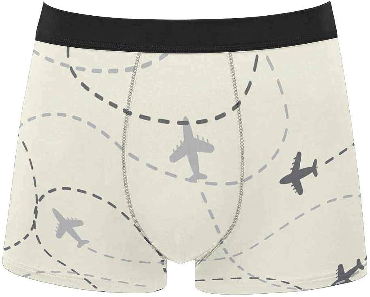 InterestPrint Men's Classic Fit Boxer Briefs Underwear Breathable Underwear Tooth Fairy Cartoon