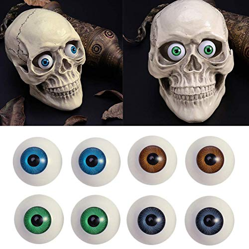 Tvoip 8Pcs Hollow Eyeball Mask Halloween Horror Props Halloween Eyes Scary Eyes Fit Into Mask Skull Costume for Halloween Party Favors (26mm)