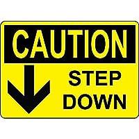 注意ステップダウンウォールメタルポスターレトロプラーク警告ブリキサインヴィンテージ鉄絵画装飾オフィスの寝室のリビングルームクラブのための面白いハンギングクラフト
