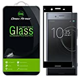 Dmax Armor for Sony Xperia XZ Premium [Tempered Glass] Screen Protector, (Full Screen Coverage) (Black)