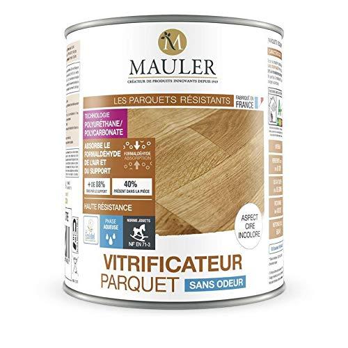 Vitrificateur Parquet Sans Odeur et dépolluant - MAULER 5 litres - Mat Incolore