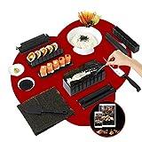 Kit Sushi Maker - Moldes para sushi completo + libro de 50 recetas de regalo - 11 piezas - Con...