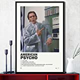 MZCYL Leinwand Malerei American Psycho Classic Horrorfilm