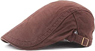 Fashion Hats Cotton Beret Cap Men's Women's Retro Casual Summer Winter Golf Newspaper Driving Tax Flat Cap Elegant Hats (Color : Coffee, Size : 56-58CM)