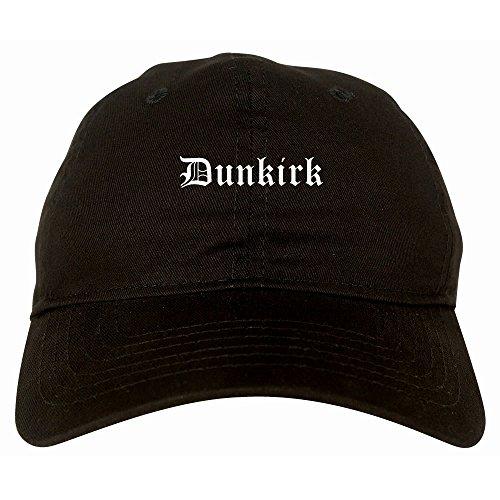 Kings Of NY Dunkirk City New York NY Goth 6 Panel Dad Hat Cap Black
