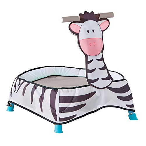 Kid Active Baby Zebra Toddler Trampoline Toy, Black/White