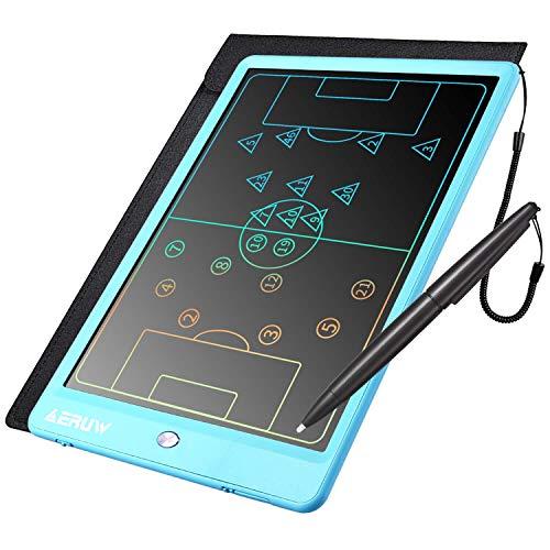 Tableta de Escritura Color LCD 10 Pulgadas, Tablet Escritura Pantalla Colorido Infantil, Tableta Grafica Dibujo Niños Adecuada para el Hogar, Escuela, Oficina, Cuaderno de Notas con Fundas (Azul)