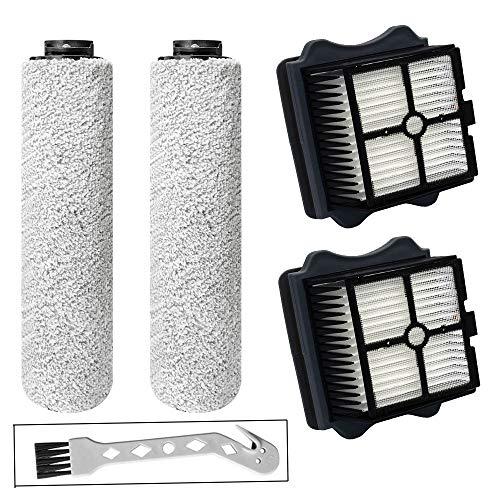 Ersatzbürstenwalze HEPA-Filter Assy Set für Tineco iFloor 3/Floor One S3 schnurloser Nass- und Trockensauger Zubehör, enthält 2 HEPA-Filter, 2 Rollenbürsten, 1 Reinigungswerkzeug