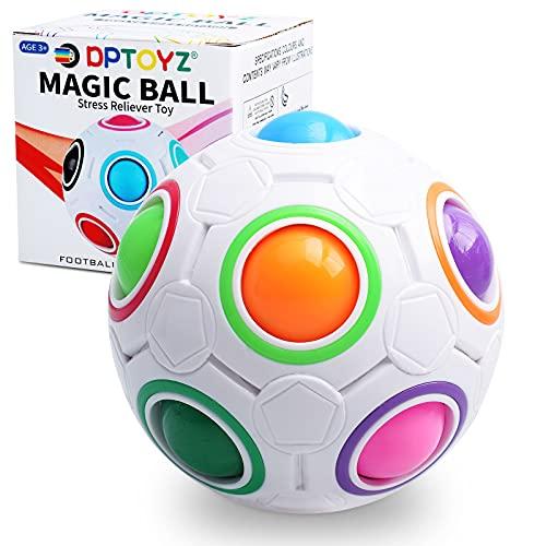 DPTOYZ Rainbow Fidget Ball Puzzle Ball Fidget Toy Cube Ball Puzzle Game Fun Stress Reliever Magic Ball Brain Teaser Sensory Fidget Toys for Children/Adults/Boys/Girls Holiday