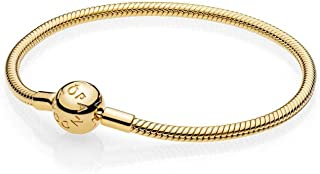 PANDORA Smooth 18k Gold Plated Shine Collection Charm Bracelet