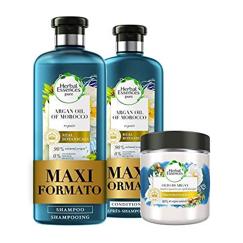 Herbal Essences Olio di Argan: Shampoo 400ml + Balsamo...