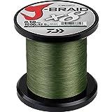 Daiwa Jbraid x8, Hilo de 0.42 mm, 1500m , 46.5 kg, color Verde (Dark Green)