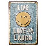 MARQUISE & LOREAN  Chapas Decorativas Pared Placas Metálicas Vintage:...
