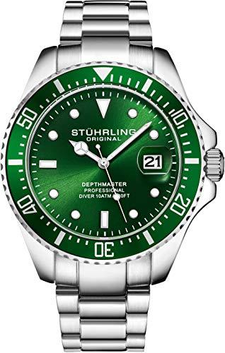 Orologio Uomo Stuhrling Original Divers - Orologio sportivo Pro con corona...