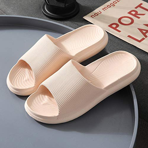 B/H ChanclasdeMasaje,Zapatillas de Plataforma para el hogar para Hombres y Mujeres, Sandalias Antideslizantes para el hogar-A Powder_37-38,EspumaZapatillasdeDuchapara6