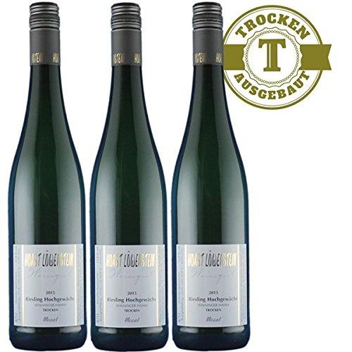 Weißwein Weingut Horst Löwenstein Winninger Hamm Qualitätswein Riesling Hochgewächs 2017 trocken (3 x 0,75 l)