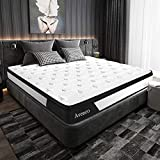 Queen Mattress, Avenco Hybrid Mattress Queen, 10 Inch Innerspring and Gel Memory Foam Mattress in a Box, with CertiPUR-US Foam for Supportive, Pressure Relief and Cooler Sleeping, 10 Years Support