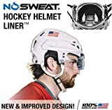No Sweat Hockey Helmet Liner - Moisture Wicking Sweatband Absorbs Dripping Sweat | Helps Prevent Acne, Reduces Fogging/Anti-Fog… (6pk)