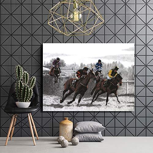 KWzEQ Cartel de Plan de competición Deportiva Moderna Pintura al óleo sobre Lienzo, decoración del hogar,Pintura sin Marco,30x42cm