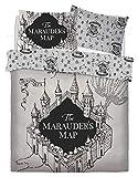 Warner Bros Harry Potter Marauders Map Juego de Cama, Matrimonio
