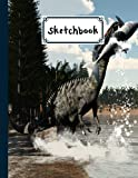 """Sketchbook For Kids: Suchomimus Dinosaurs Sketchbook,Blank White Pages for Painting, Drawing, Writing, Sketching and Doodling, 122 pages, Size 8.5"""" x 11"""" by Dagmar Naumann"""