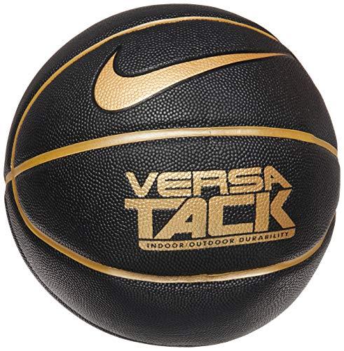 Nike Unisex– Erwachsene Versa TACK 8P Basketball, Black/Metallic Gold/Black/Metallic Gold, 7