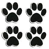 Set patas del perro - Parches termoadhesivos bordados aplique para ropa, tamaño: 3,6 x 3,6 cm