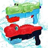 2 Pack Water Gun for Kids, Squirt Guns Water Soaker Blaster Toys Dinosaur Crocodile Gift for Boys Girls Children, Summer Swimming Pool Beach Backyard Yard Outdoor Games Outside Water Pistol Toys