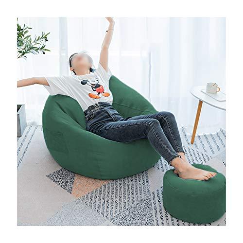 SD Bean Bag Chaise/Pouf Poire/Couleur Multiple/avec Repose-Pied/Cadeau Oreiller/Convient pour intérieur et extérieur