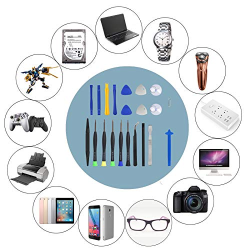 22-in-1 Electronics Repair Tool Kit with Professional Precision Screwdrivers and Opening Pry Tools Suitable for iPhone, MacBook, Samsung, Huawei and Other Phones, Tablets and Computers