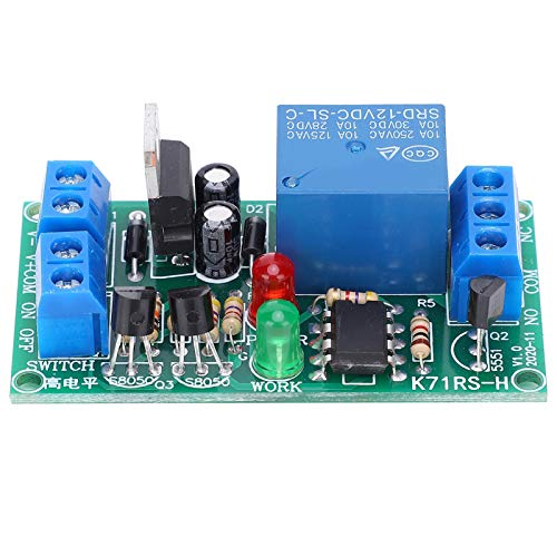 Módulo de relé K71RS-H-12V, control de interruptor de 2 botones Módulo de control de relé de alta precisión, tablero de componentes electrónicos, 45 mA