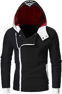 Men's Long Sleeve Zipper Hoodie Pullover Sweatshirt with Pocket Warm Jacket